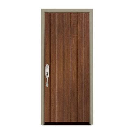 Architect Series Plank Entry Door Solid Panel